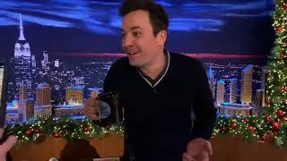 Jimmy fallon live on Facebook  doing a livestream  monologue
