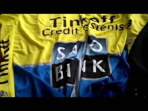 Unboxing Aliexpress camisa e bretele Tinkoff Saxo Bank(ciclismo)