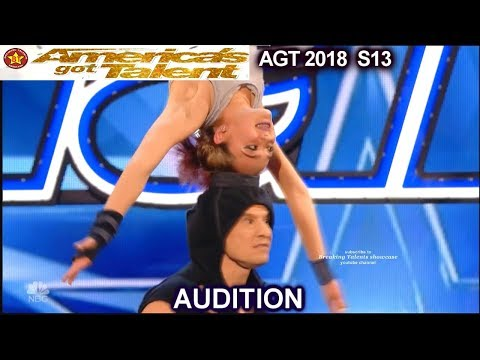 Sergey and Sasha Father Daughter Acrobatic Duo STUNNING America's Got Talent 2018 Audition AGT