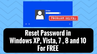 Reset Password in Windows XP, Vista, 7 For FREE by Britec