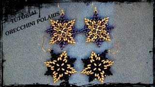 "Tutorial Perline: Orecchini ""Polaris"", realizzati con twin beads e rocaille"