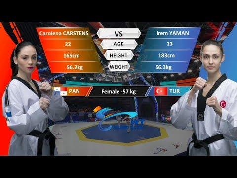 F-57kg| Irem Yaman(TUR) VS  Carolena Carstens(PAN) | 2017-2018 Season WT Grand Slam Finals