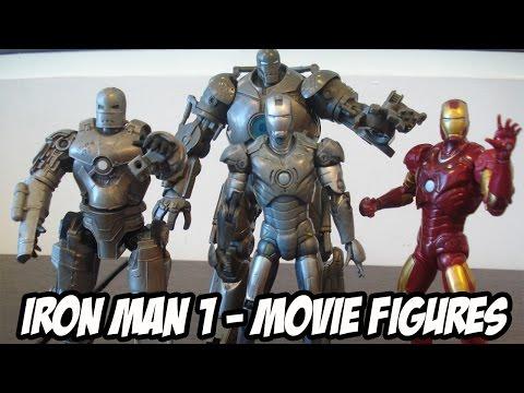 IRON MAN FIGURES REVIEW - Review dos bonecos do primeiro filme do Homem de Ferro