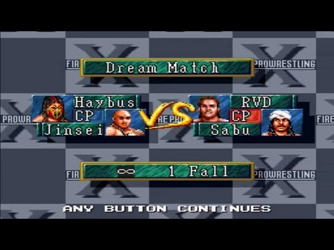 Super Fire Pro Wrestling Premium X Sims - Hayabusa & Jinsei Shinzaki vs Rob Van Dam & Sabu