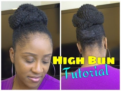 Easy Marley Braid High Bun   Natural Hair Tutorial