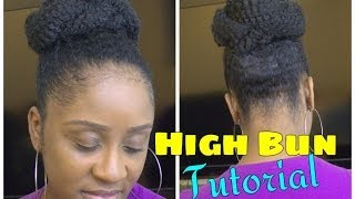 Easy Marley Braid High Bun | Natural Hair Tutorial