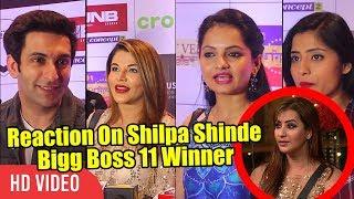 Tv Celebrities Reaction On Bigg Boss 11 Winner Shilpa Shinde | Rakhi Sawant, Devoleena And Nandish