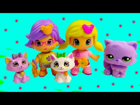 Pinypon Glitter Girls Pal Pets Kitty Cat Kittens Playset Dolls Unboxing Cookieswirlc Toy Review