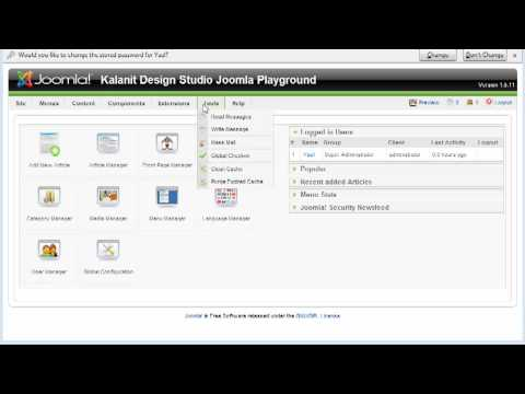Intro to Joomla Control Panel Screencast #1