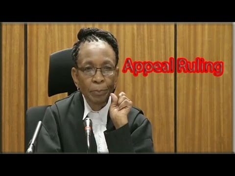 Oscar Pistorius appeal ruling, 10 December 2014