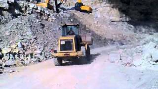 buldozer working in racha(georgia)