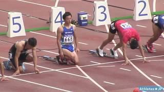 男子100m決勝10.01秒!山縣亮太vs桐生祥秀【実業団陸上2018】