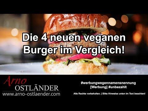 Die 4 neuen veganen Burger im Vergleich:  Beyond Meat, Lidl, Garden Gourmet und Aldi