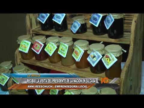 Mauricio Macri visitó a una emprendedora de La Criolla