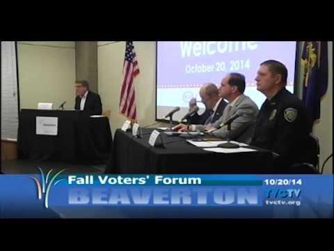 Beaverton Fall Voters' Forum 2014