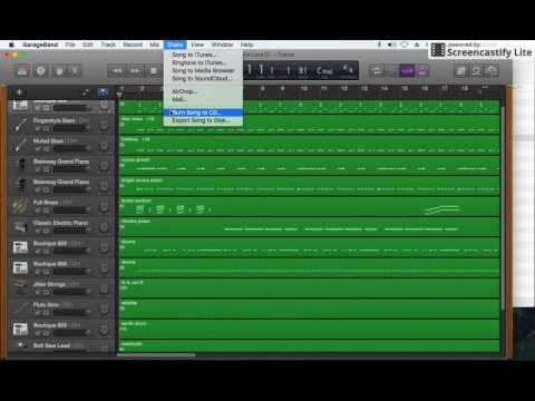 How to turn a GarageBand project into an MP3 audio file