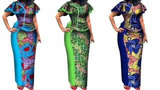 LATEST AFRICAN PRINT DRESSES STYLES 2020: 60 FASCINATING & STYLISH COLLECTION #AFRICAN PRINT DRESSES