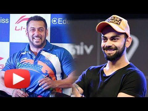 Virat Kohli REACTS On Salman Khan As The Rio Olympics 2016 Ambassador