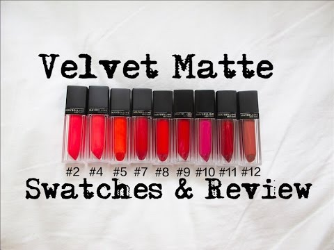 『試色』Maybelline 2015奢漾絲絨唇萃試色 l Velvet Matte Review&Swatches