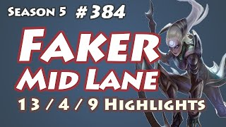 SKT T1 Faker - Diana vs Twisted Fate - Wolf, KR LOL SoloQ Highlights