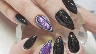 Acrylic Nails Geode Gel Polish Nail Design