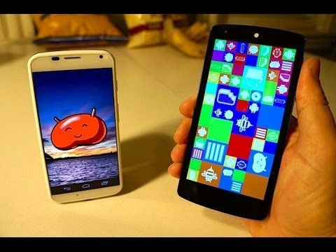 Nexus 5 Vs Moto X video