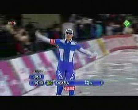 World Record Speedskating, 1000m , P. Koskela 1:07.00