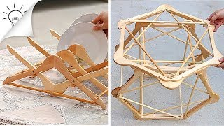 2 Creative Ideas With Wooden Hangers
