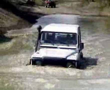 My Land Rover Defender in Swimming lessons #4 External View Driver Frank.