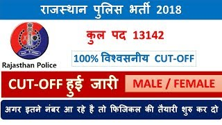 Rajasthan police cut off 2018 / rajasthan police result date/ excpted cut off 2018 / answer key