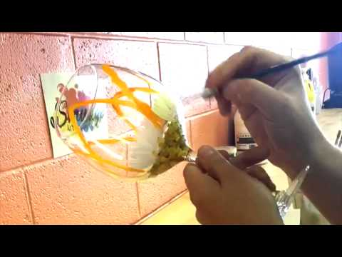 Wine Glass Painting with Smudge