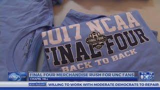 UNC Final Four gear fills shelves in Chapel Hill
