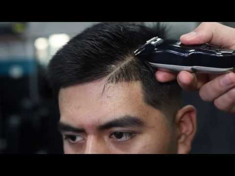 MID SKIN FADE TUTORIAL   COMB OVER   SIDE PART   BY VICK THE BARBER - HD
