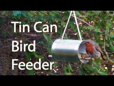 How to make a tin can bird feeder youtube for How to make a tin man out of cans
