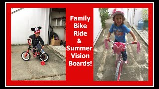 Bike Rides & Kids' Vision Boards Vlog