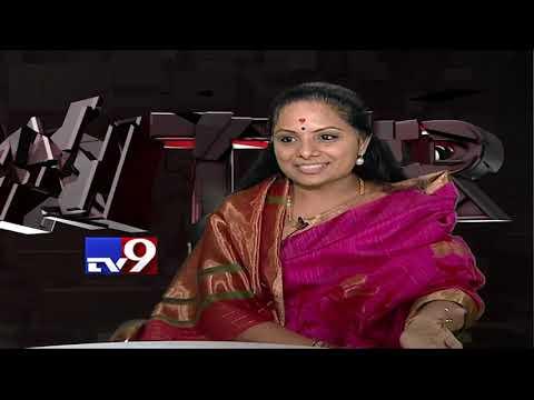 K. Kavitha in Encounter with Murali Krishna - TV9