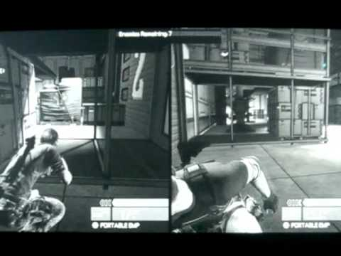 Splinter Cell Conviction Hunter Mode Co-op Split Screen Gameplay