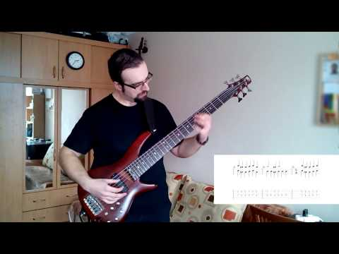 Medawk - Skyrim Main Theme On 6 String Bass