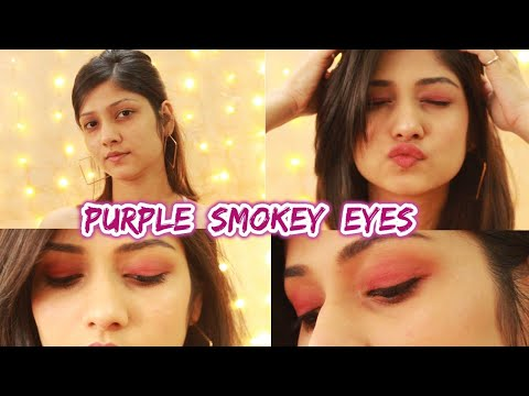 FESTIVE MAKEUP LOOK | EASIEST PURPLE SMOKEY EYE! | Manasi Mau