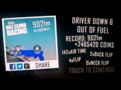 Hill Climb Racing - Highway World Record Level 30 - 9021 meters