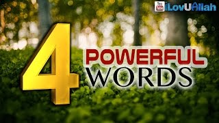 4 Powerful Words ᴴᴰ | Mufti Menk