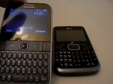 Samsung S390G & LG LG530G (Tracfone) Comparison.MOV