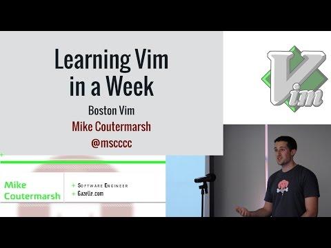 Learning Vim in a Week