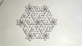 Learn to Draw 15-8 Shanka/ Shanku/ Conch Rangoli/ Muggulu/ Kolam