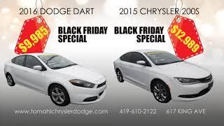 2016 Dodge Dart $9,985 & 2015 Chrysler 200 $12,989 at Tom Ahl Chrysler's Black Friday Sale