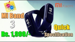 Mi Band 3| Full Specification