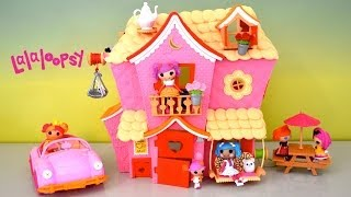 Lalaloopsy Dollhouse Sew Sweet Playhouse & Cruiser full house tour with cute little Dolls