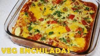 Cheesy Vegetable Enchiladas | Healthy Homemade Vegetarian Recipe | Mexican Cuisine | Kanak's Kitchen