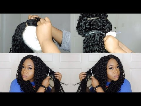 Lace Wig Maintenance: How I Wash My QuickWeave Glue Gun Wig   Aliexpress Brazilian Deep Wave