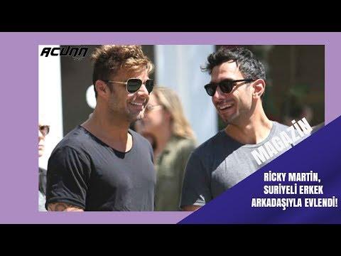 Ricky Martin, Suriyeli erkek arkadaşıyla evlendi!